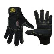 Luva de Couro Full Gloves Preta Kong Reforço Kevlar CE EN