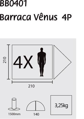 Barraca Vênus 4 Pessoas Guepardo