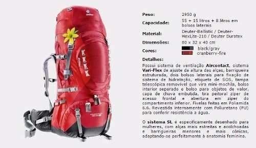 Mochila Cargueira Aircontact Pro 55+15 Deuter