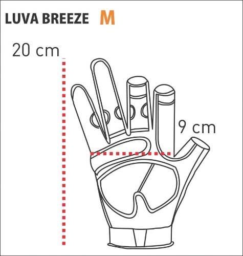 Luva Breeze Com Proteção Solar Cor Tucunaré Guepardo