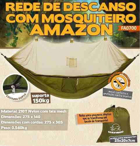 Rede De Descanso Com Mosquiteiro Amazon - Guepardo