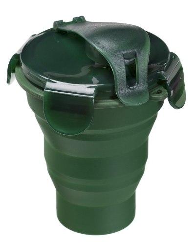 Copo Squeeze Silicone Dobrável Compacto 320ml - Guepardo