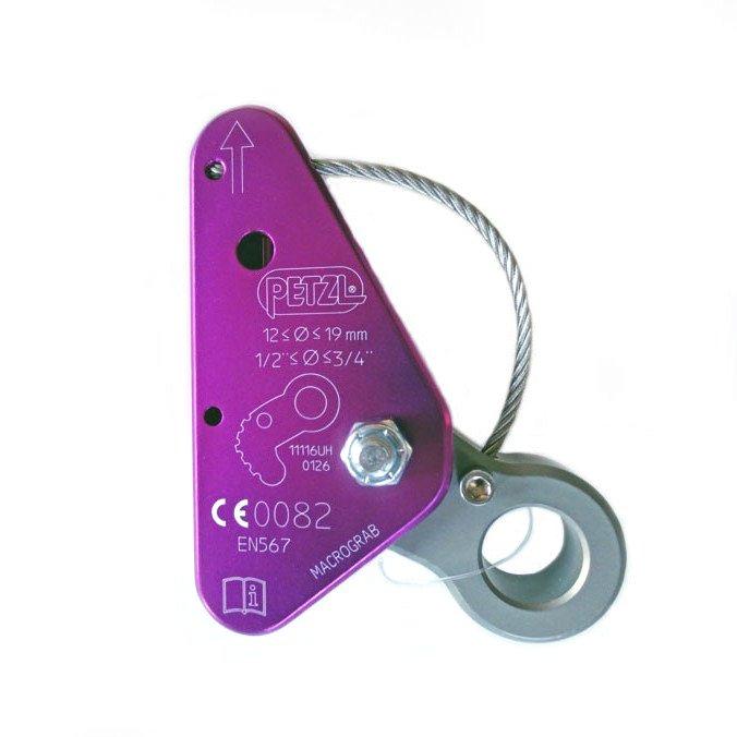 Bloqueador de Cordas 12mm a 19mm Macrograb Petzl