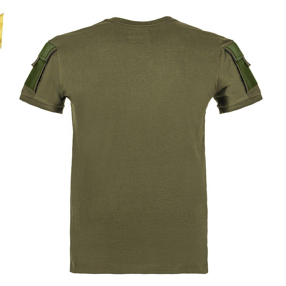 Camiseta Tática Militar Air Soft T-Shirt Army 2 Bolsos Invictus