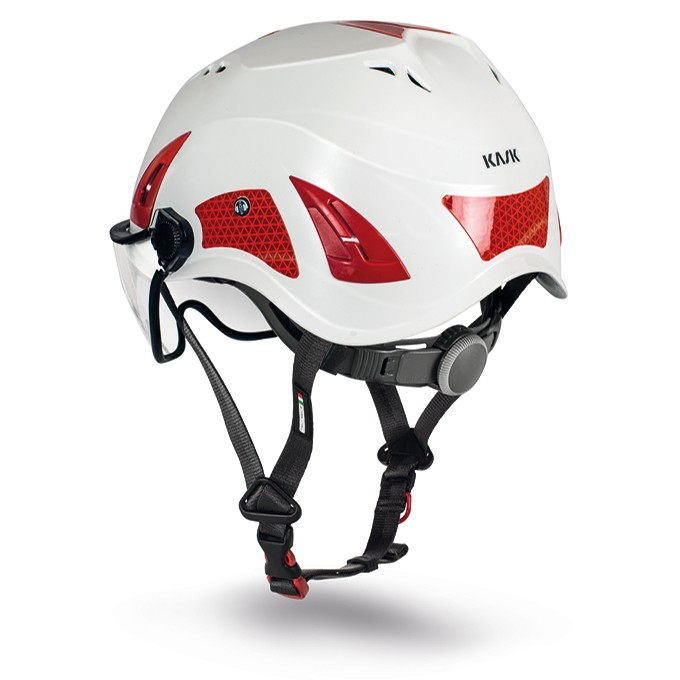 Capacete classe tipo III Resgate Cruz Vermelha Com Viseira CE EN Kask