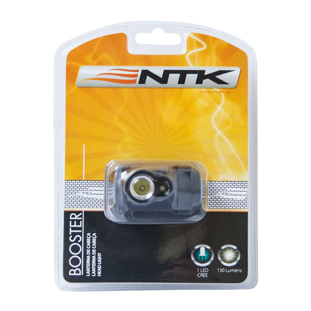 Lanterna de Cabeça Capacete 130Lm Booster Nautika