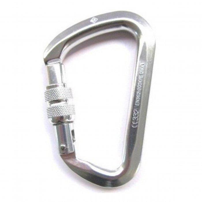 Mosquetão D aluminio rosca Grande Abertura Ce Uiaa 28KN - USclimb