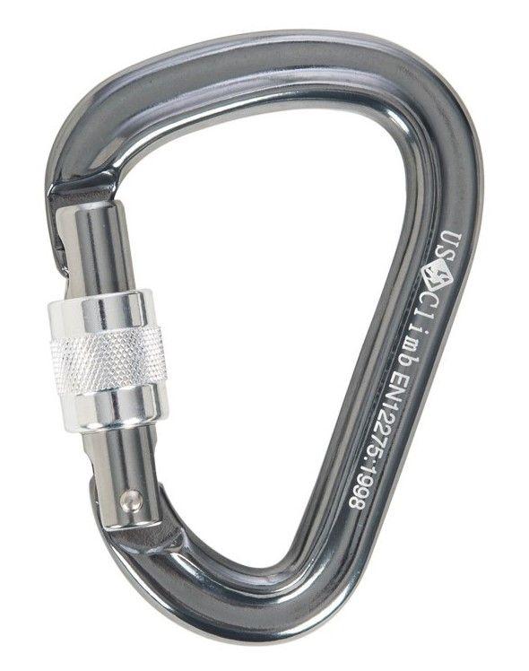 Mosquetão Hms aluminio 26kn Rosca Keylock CE EN - Usclimb