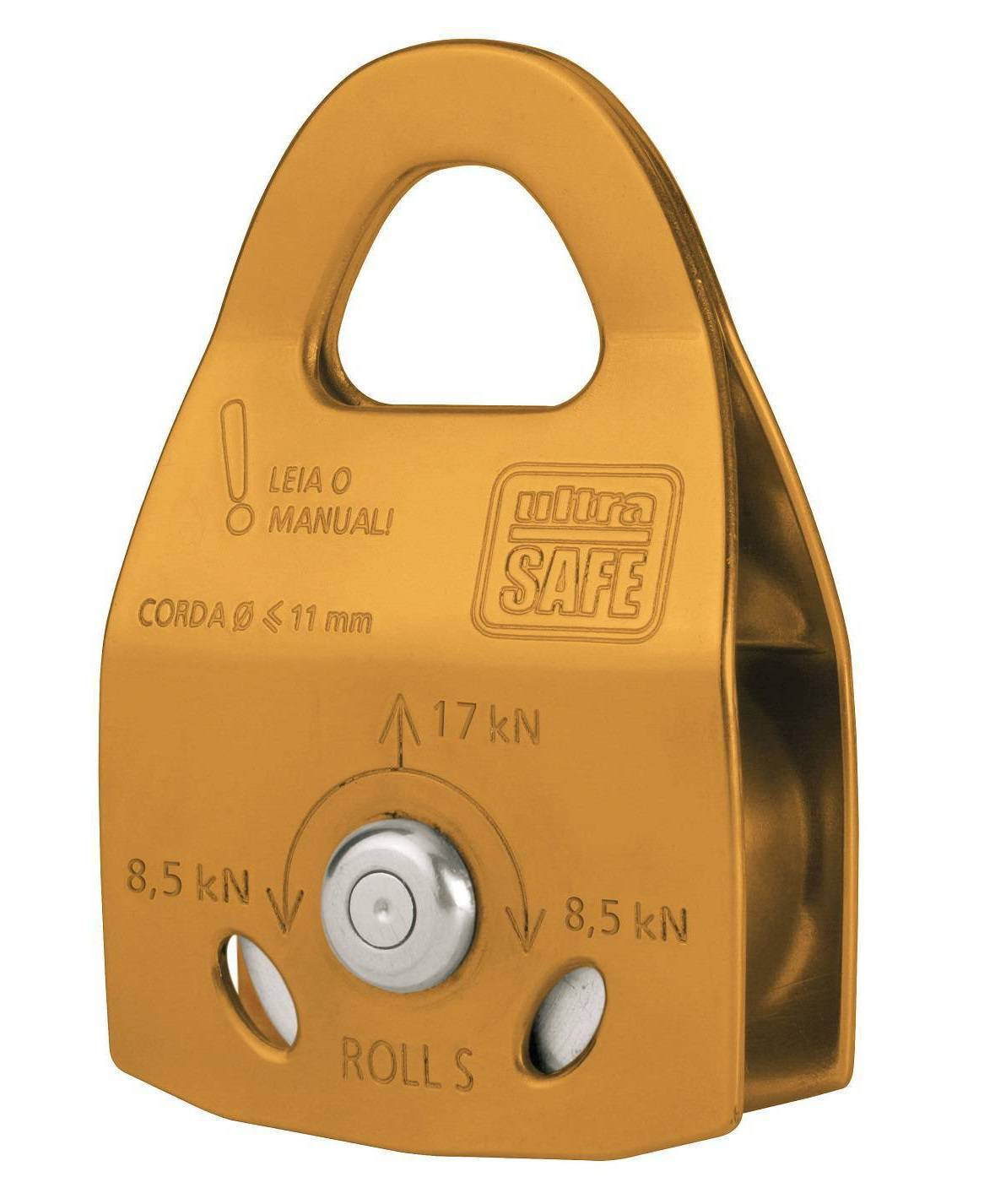 Polia Simples Duraluminio Oscilante 17KN Roll S Ultra Safe