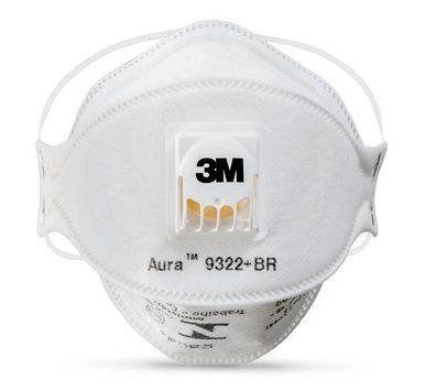Respirador Descartável Mascara Semifacial com válvula PFF2 Aura 9322+BR 3M