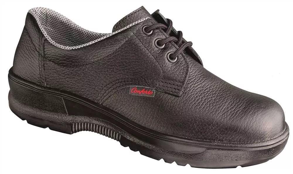 Sapato em Couro com Cardação e e Biqueira Plástica Bidensidade Conforto