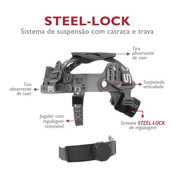 Suspensão Tipo catraca Stell-Lock com Jugular Steelflex