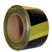 Fita Plástica Zebrada 70mmx200m Amarelo/Preto PLASTCOR