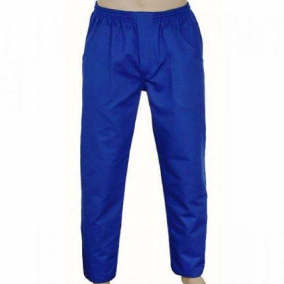 Calça Brim Elástico Azul Royal 4 Bolsos