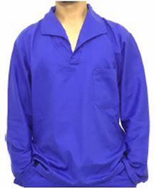 Camisa Brim Manga Longa Azul Royal