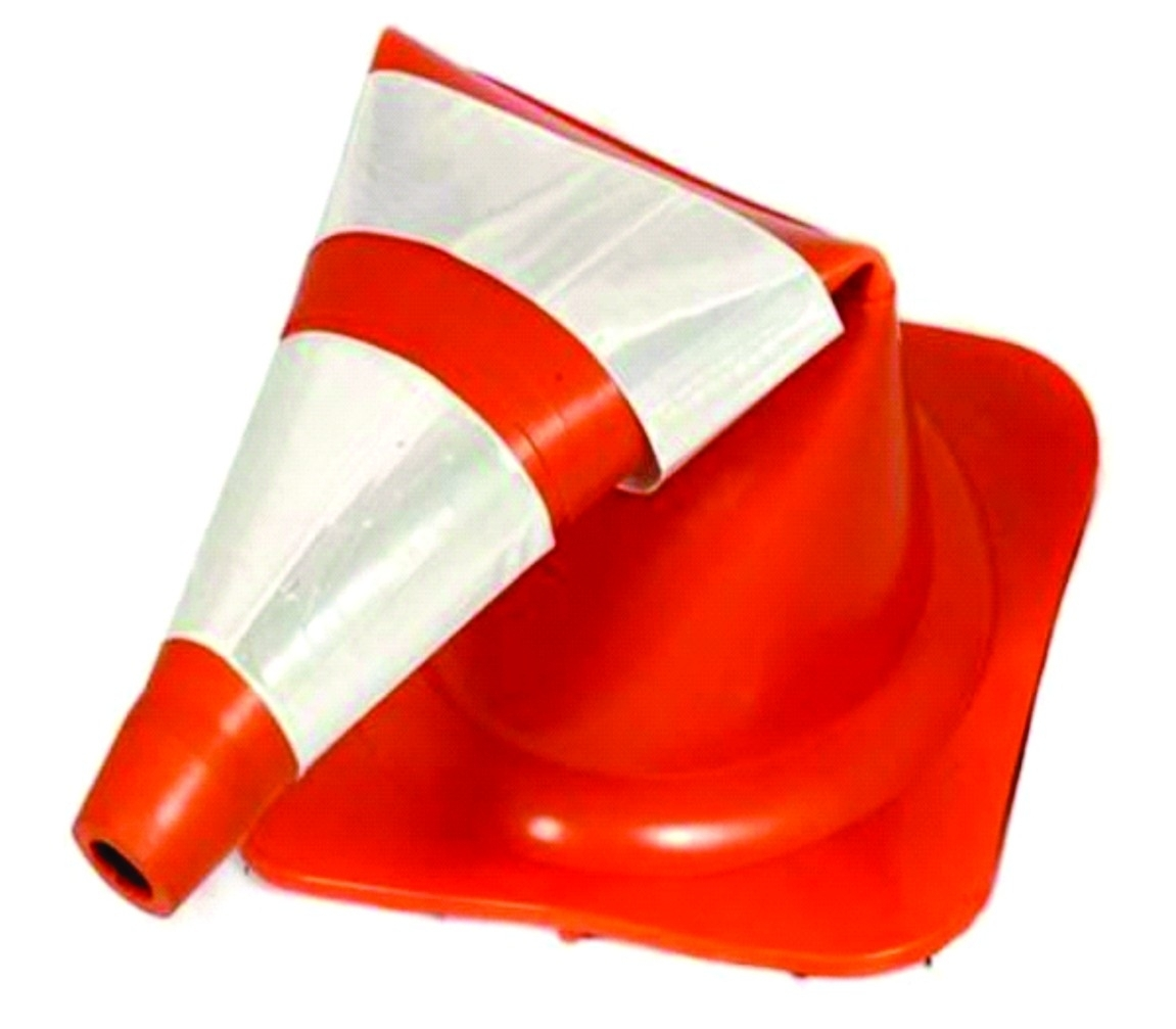 Cone de Sinalização 75CM NBR15071 Laranja/Branco KTELI
