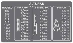 Escada Alumínio Extensiva Botafogo *Frete à Combinar