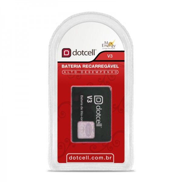 Bateria de Celular Recarregável Litio 3.7V V3 - Dotcell