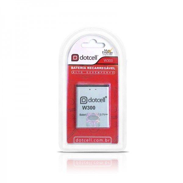Bateria de Celular Recarregável Litio 3.7V W300 - Dotcell