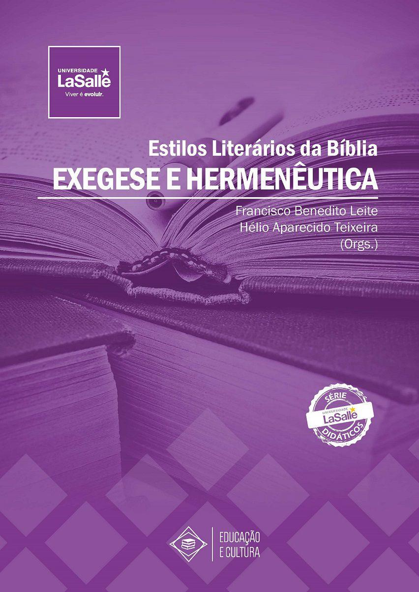 Estilos Literários da Bíblia: Exegese e Hermenêutica