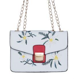Bolsa com bordado floral