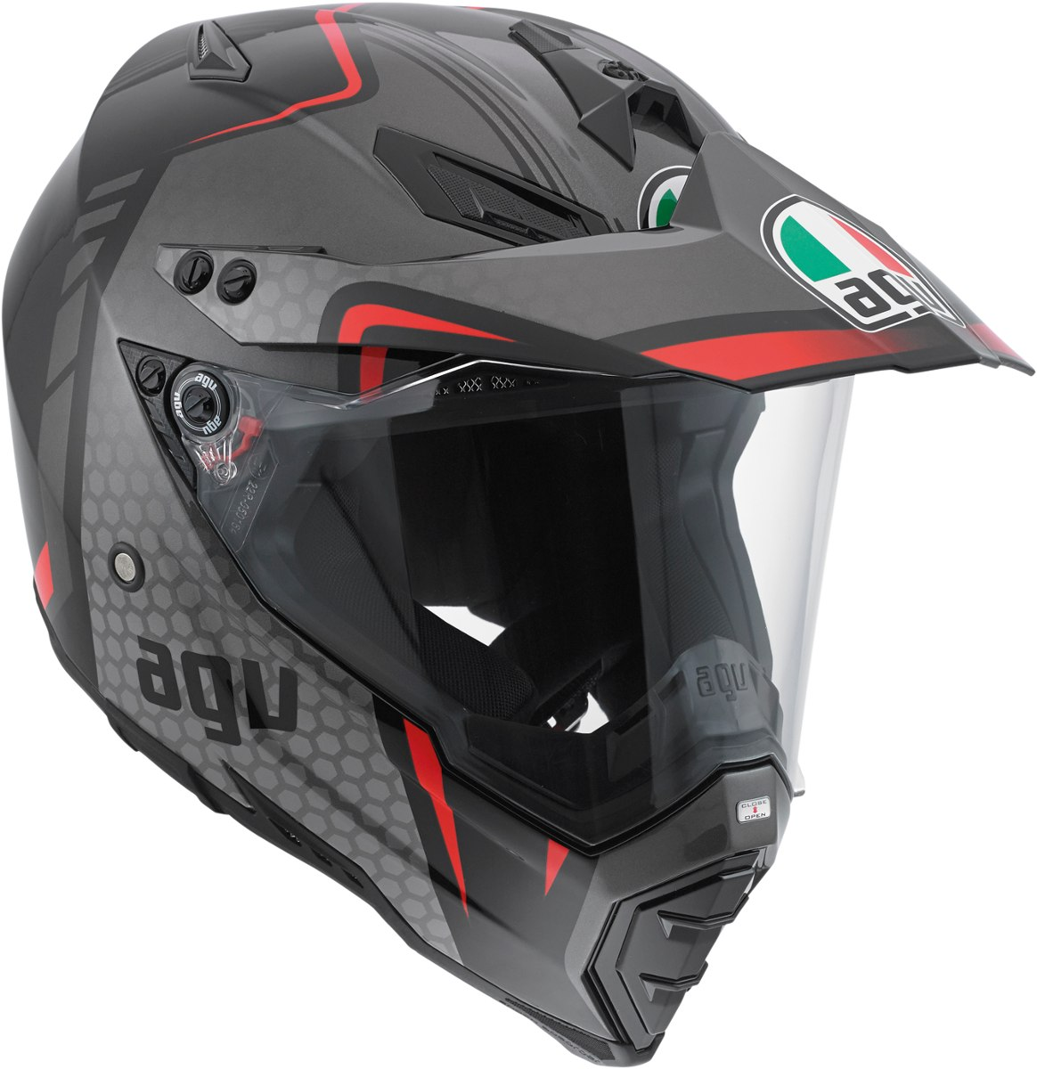 Capacete AGV AX-8 GT Blk/Sil/Red