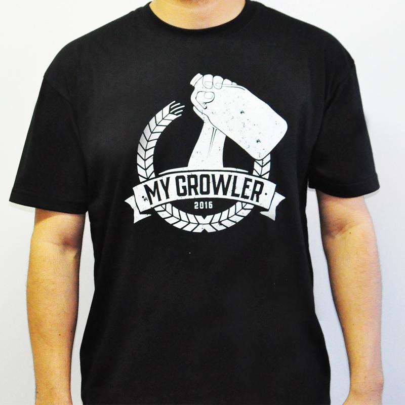 Camiseta manga curta em algodão com gola redonda - My Growler
