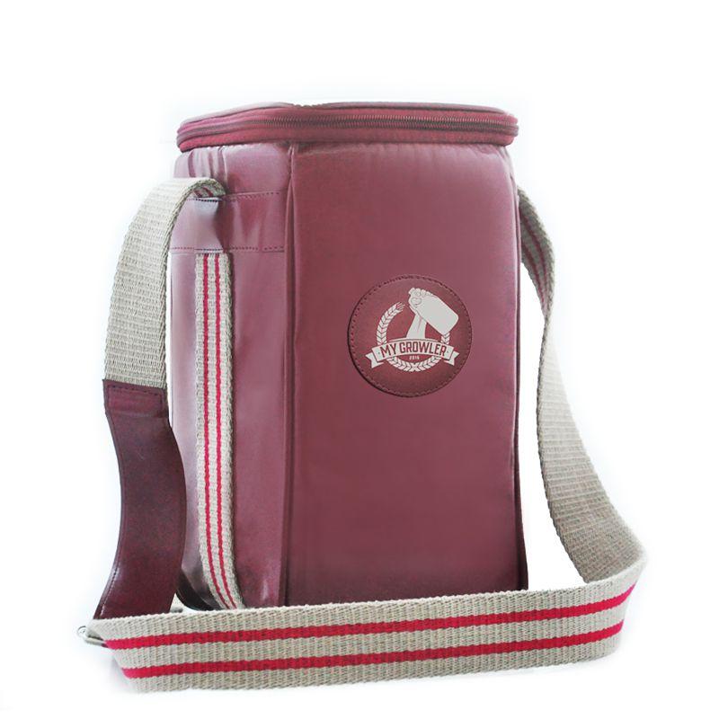 Growler Bag Travel em couro sintético personalizada para 1 growler