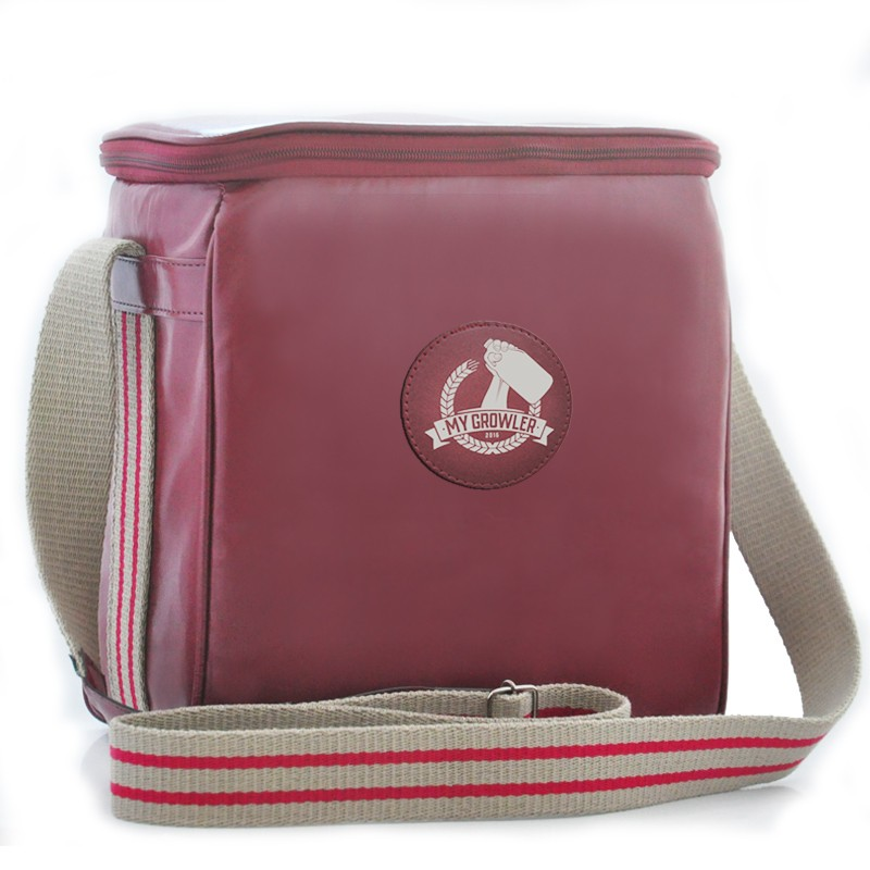Growler Bag Travel para 2 growlers - Vermelho