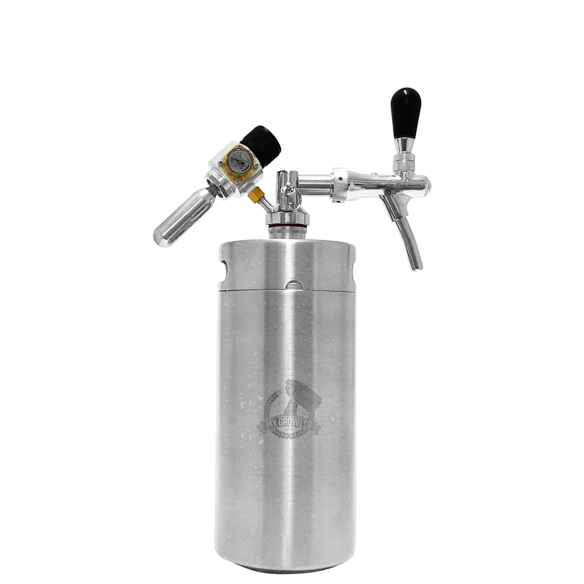 Kit My Keg, Growler Inox 3,8L com torneira italiana Premium