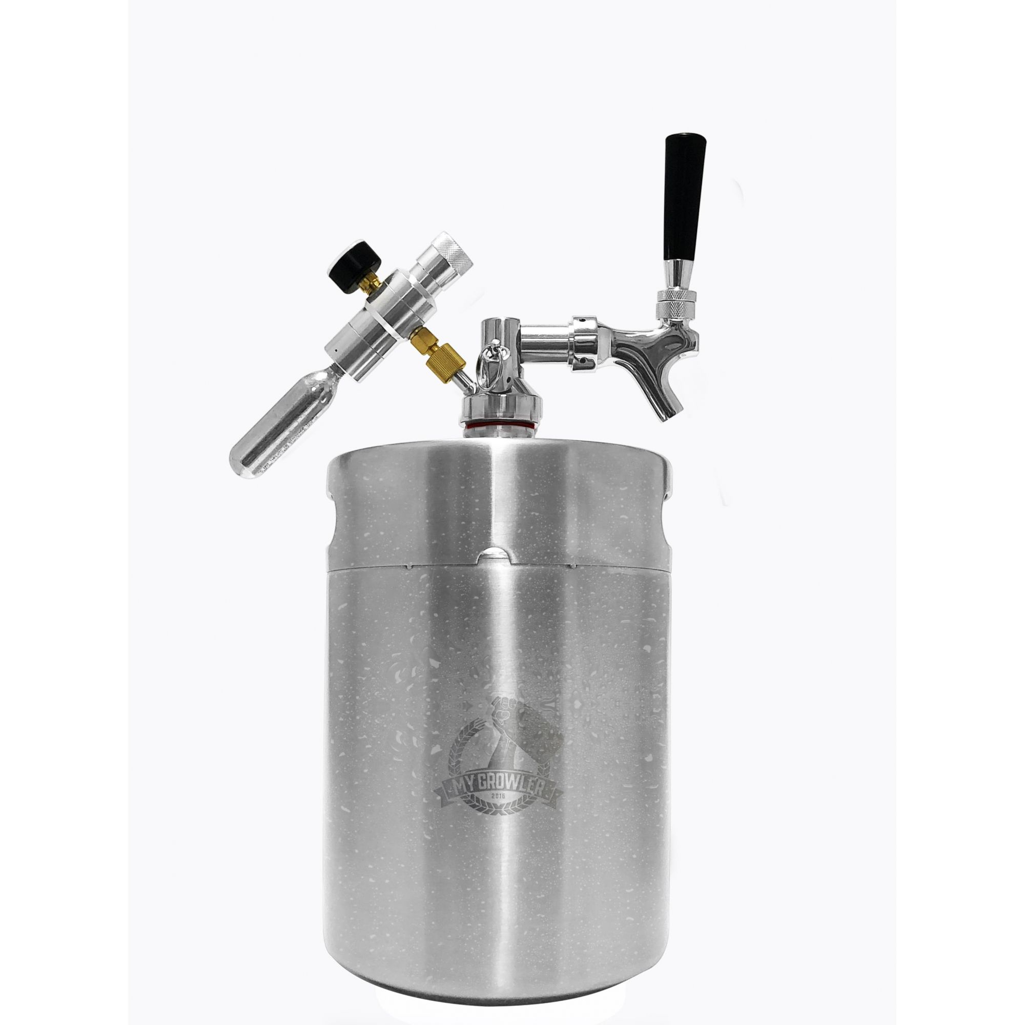 Kit My Keg, Growler Inox 5l com torneira americana Standard