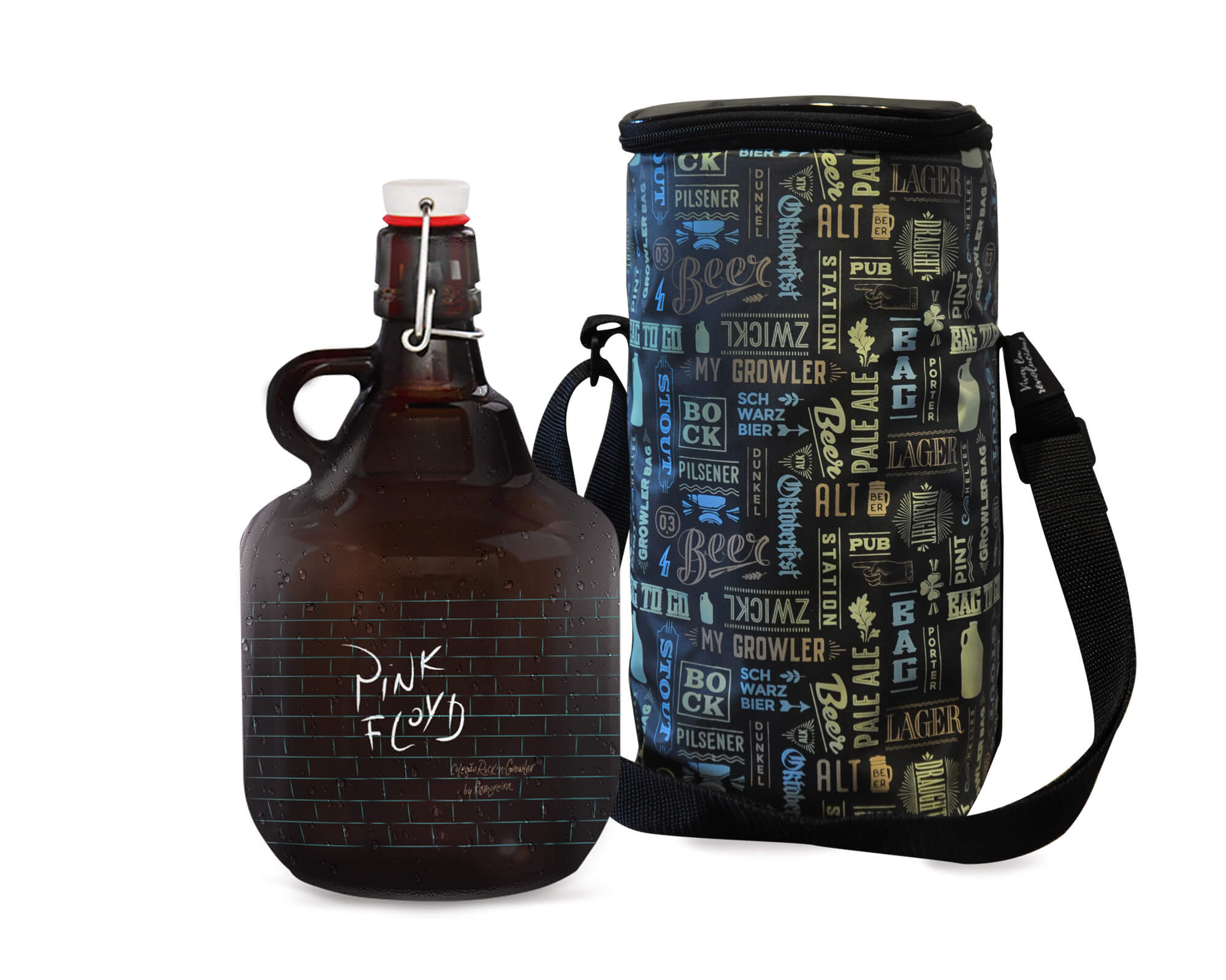 Kit Rock'n'Growler #6 - Grand Growler + Growler Bag To Go para 1 Growler