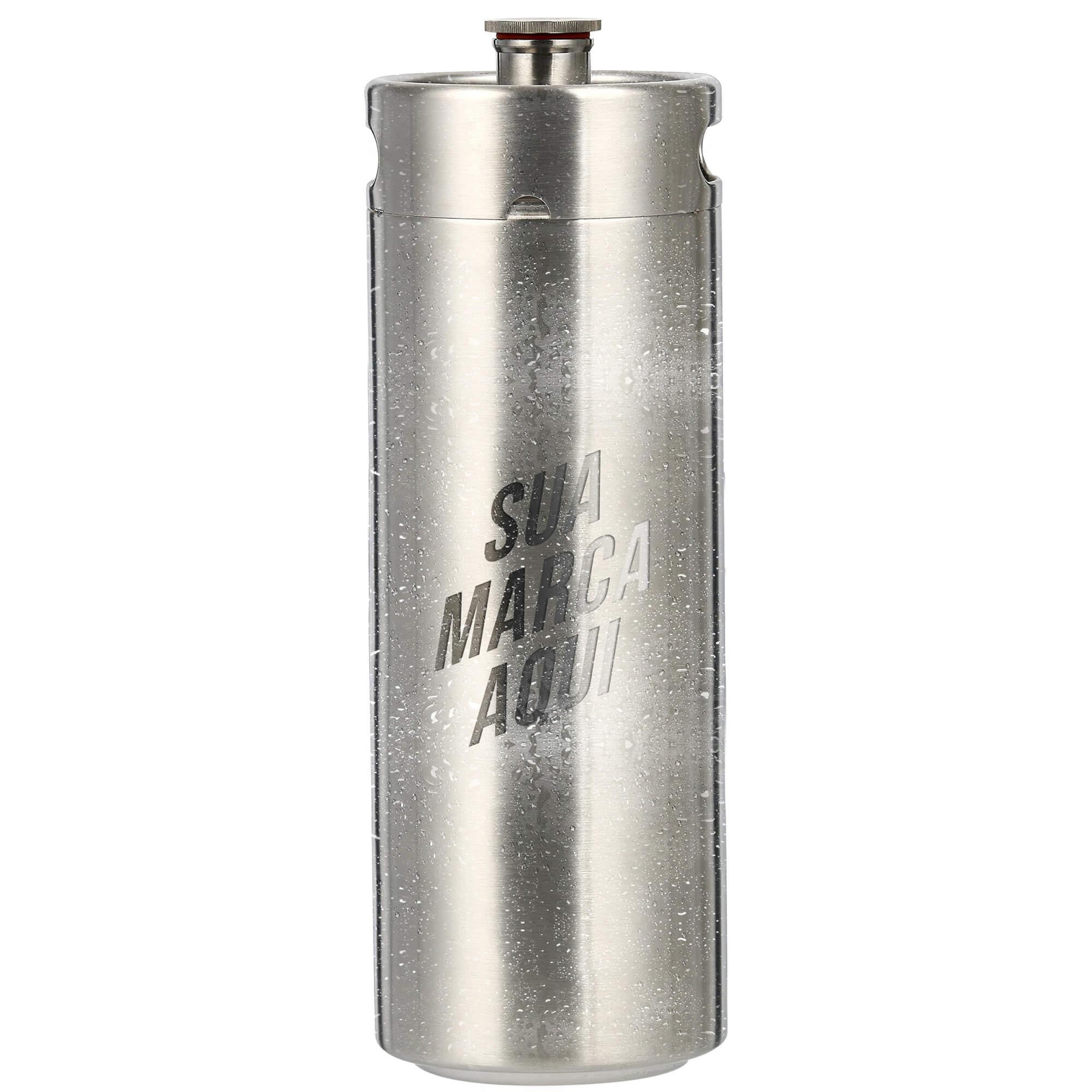 Mini Keg, Mini Barril de aço inox de 8L personalizado em laser