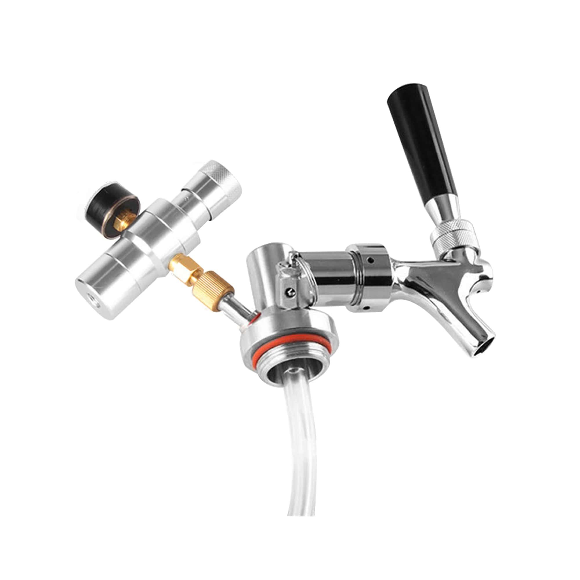 Sistema de Extração para Mini Keg com torneira Americana e Regulador de Pressão tipo I