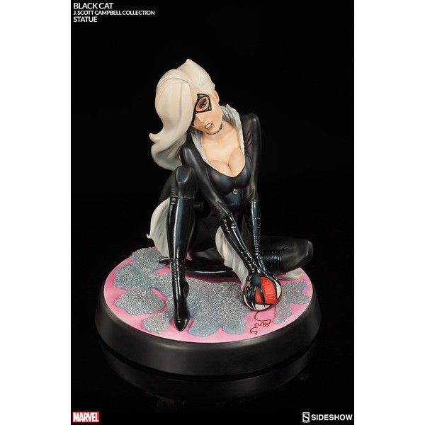 Sideshow Black Cat Comiquette Exclusive J. Scott Campbell Spider-Man Collection  - Movie Freaks Collectibles