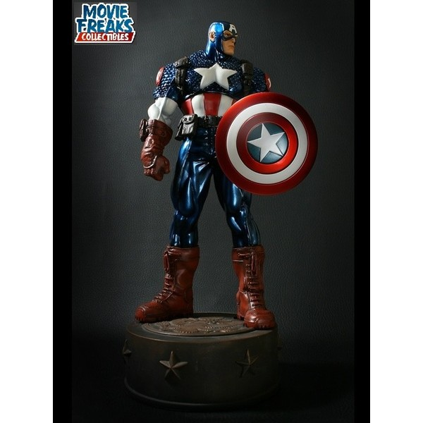 Bowen Designs Ultimate Capitão América Metallic Variant Statue - Movie Freaks Collectibles