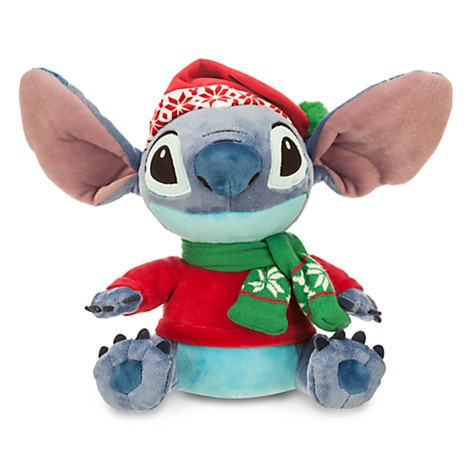 Disney Store Stitch de Natal - Pelúcia Pequeno 27.5cm  Lilo & Stitch  - Movie Freaks Collectibles