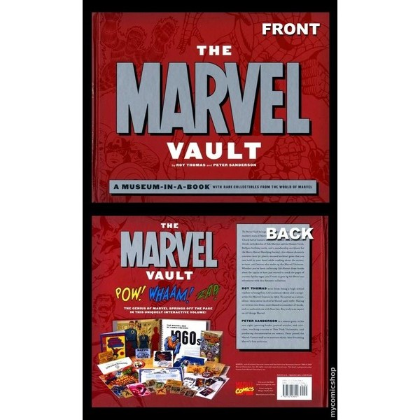 The Marvel Vault: A Museum-In-A-Book With Rare Collectibles From the World Of Marvel Hardcover  - Movie Freaks Collectibles