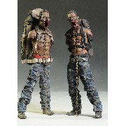 ThreeZero The Walking Dead Michone´s Pet Zombie Full set Green + Red