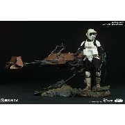 Sideshow Scout Trooper With Speeder Bike 1/6 Set