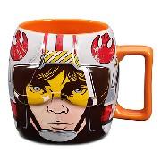 Caneca Luke Skywalker: Red Five X-wing Pilot - Star Wars / Disney Store - Produto original e licenciado!