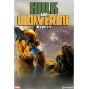 Sideshow Hulk and Wolverine Maquette