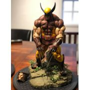THiago Provin's Brown Wolverine Beast Mode 1/4 Premium Custom Statue painted by James Tce