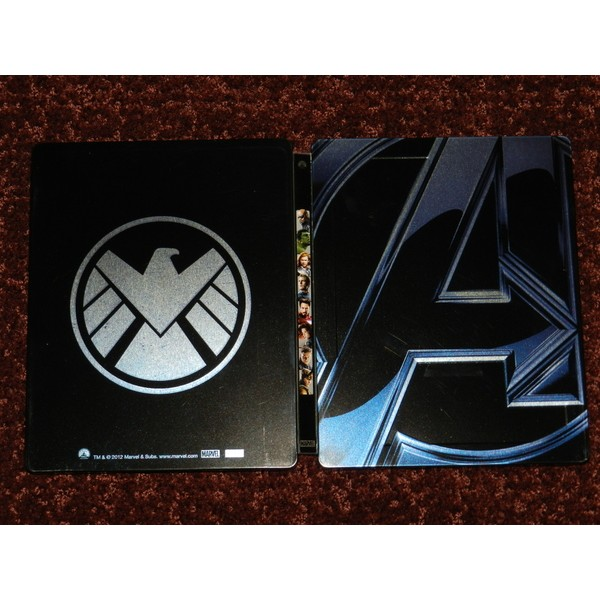 Os Vingadores 3D+2D Blu-ray Steelbook alemão  - Movie Freaks Collectibles