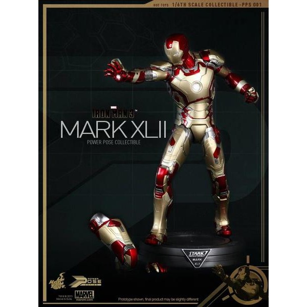Hot Toys Homem de Ferro Mark XLII Power Pose Series  - Movie Freaks Collectibles