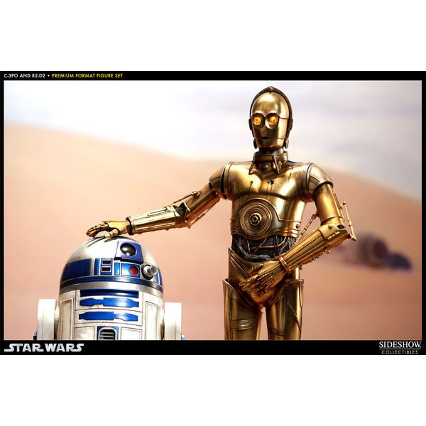 Sideshow C-3PO and R2-D2 Premium Format  - Movie Freaks Collectibles