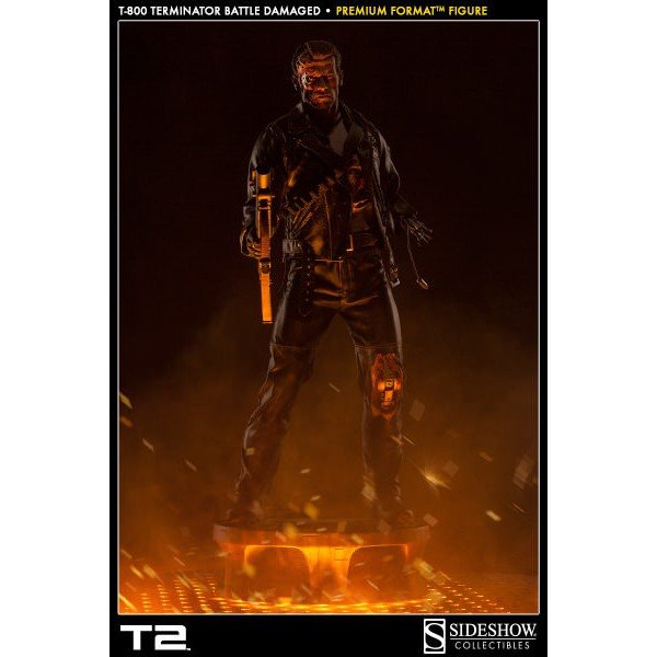 Sideshow T-800 Terminator Battle Damaged Premium Format - Movie Freaks Collectibles