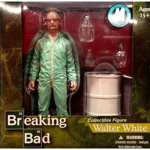 Mezco Breaking Bad Walter White in Green Hazmat Suit EXCLUSIVO NYCC 2013  - Movie Freaks Collectibles