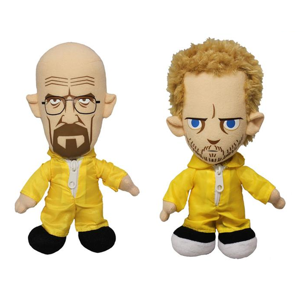 Mezco Breaking Bad Set de Pelúcia - Walter White e Jesse Pinkman  - Movie Freaks Collectibles