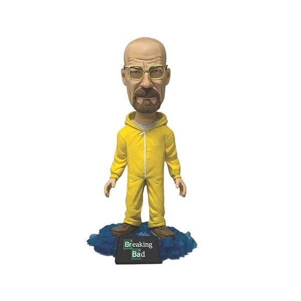 Mezco Breaking Bad Walter White in Yellow Hazmat Suit BobbleHead  - Movie Freaks Collectibles